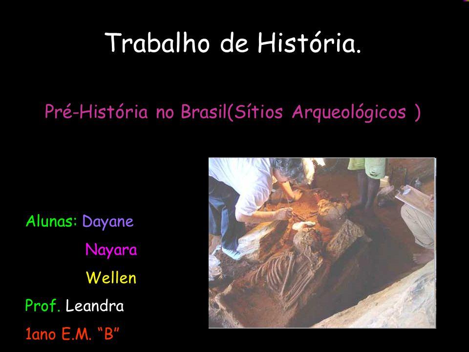 Pré-História no Brasil(Sítios Arqueológicos )