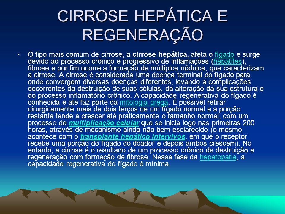 CIRROSE HEPÁTICA E REGENERAÇÃO