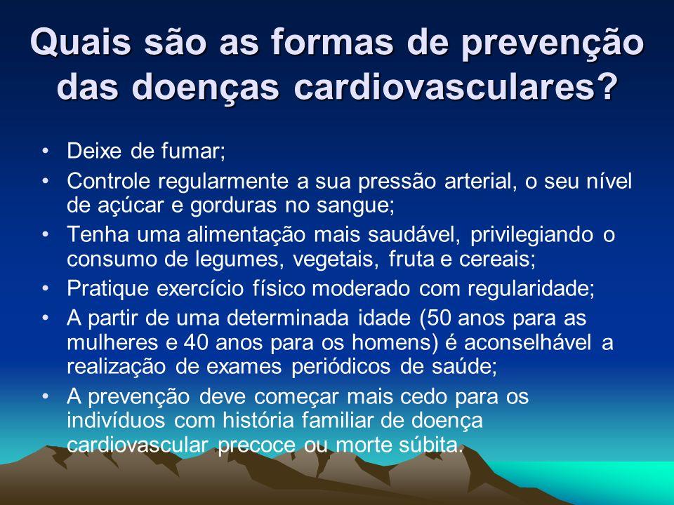 Quais são as formas de prevenção das doenças cardiovasculares