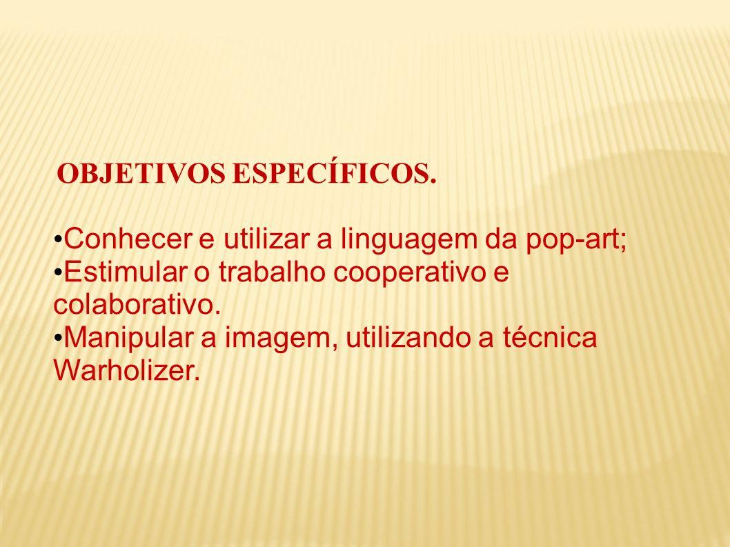 Conhecer e utilizar a linguagem da pop-art;
