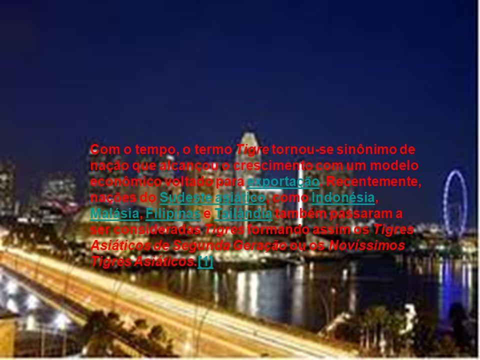 Com o tempo, o termo Tigre tornou-se sinônimo de nação que alcançou o crescimento com um modelo econômico voltado para exportação.