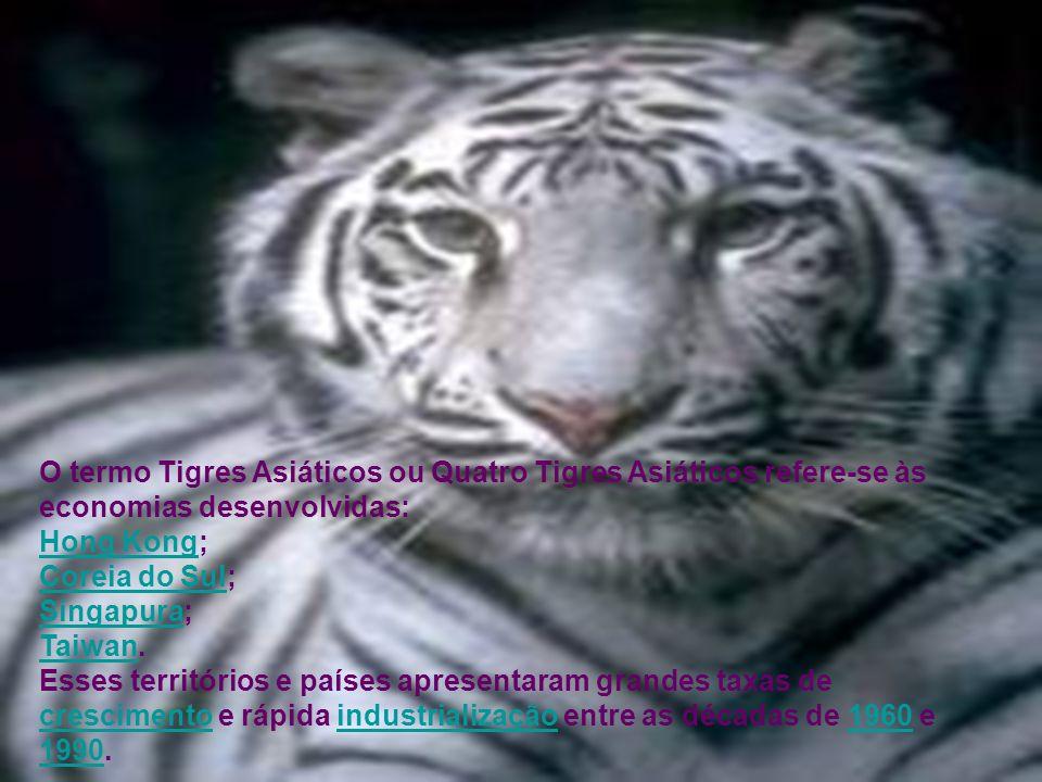 O termo Tigres Asiáticos ou Quatro Tigres Asiáticos refere-se às economias desenvolvidas: