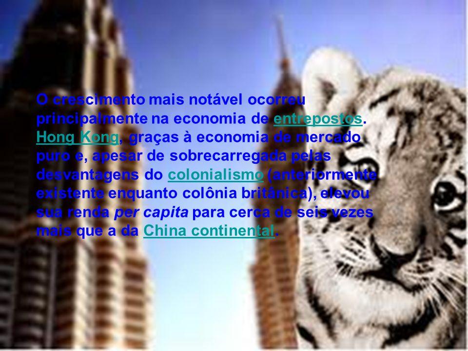 O crescimento mais notável ocorreu principalmente na economia de entrepostos.