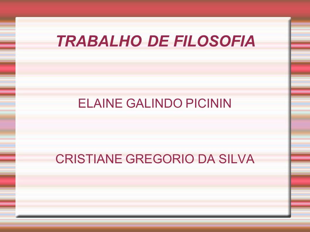 ELAINE GALINDO PICININ CRISTIANE GREGORIO DA SILVA