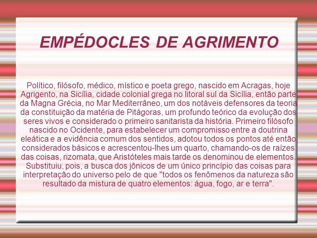 EMPÉDOCLES DE AGRIMENTO