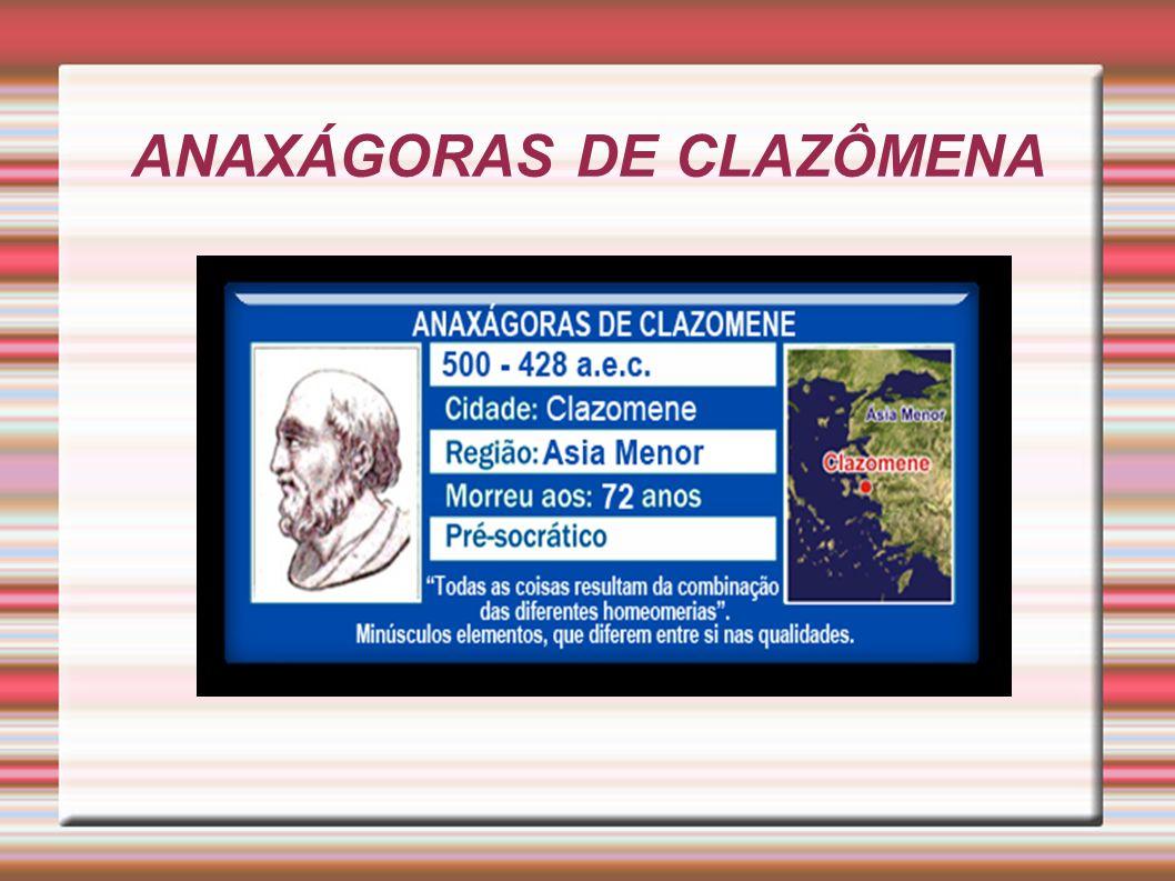 ANAXÁGORAS DE CLAZÔMENA