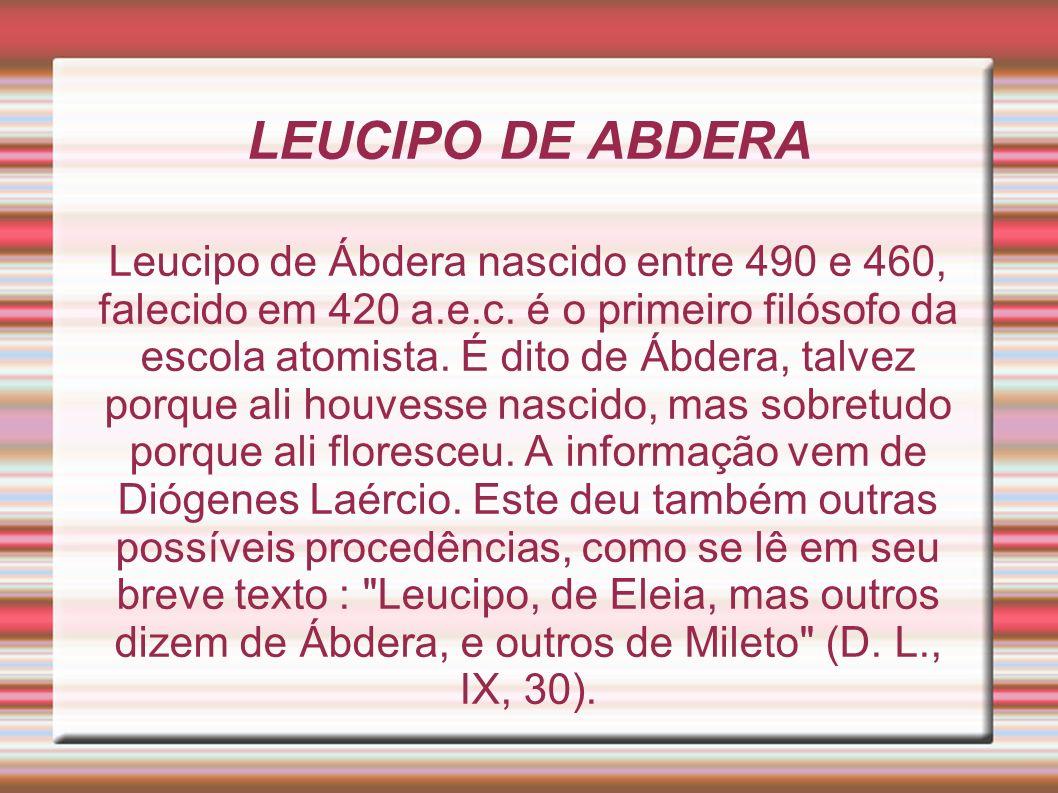LEUCIPO DE ABDERA