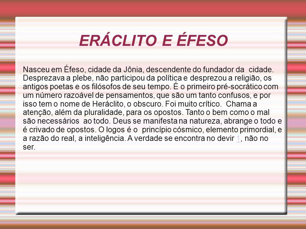 ERÁCLITO E ÉFESO