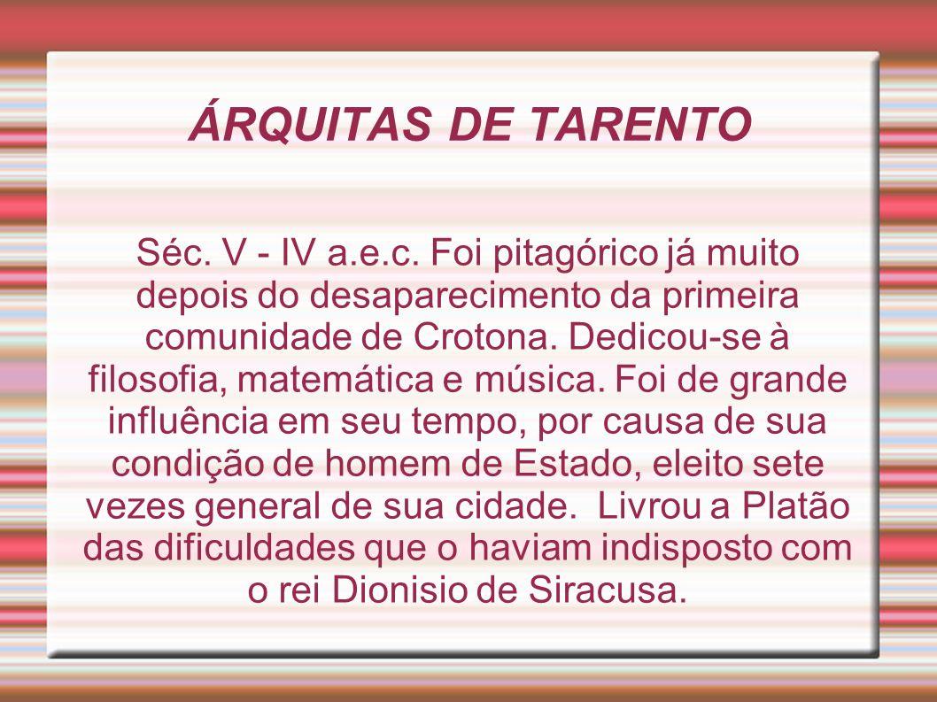 ÁRQUITAS DE TARENTO
