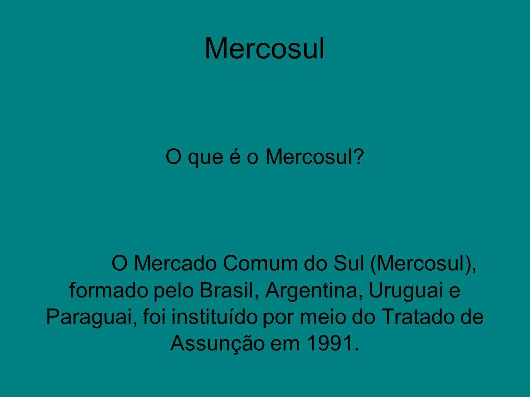 Mercosul O que é o Mercosul