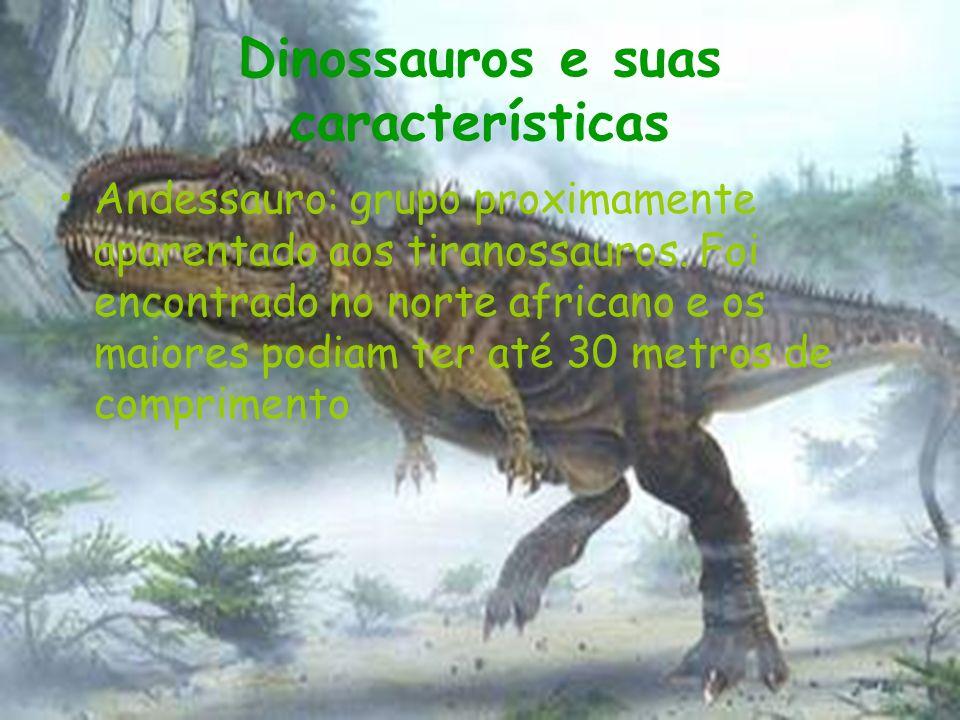 Dinossauros e suas características