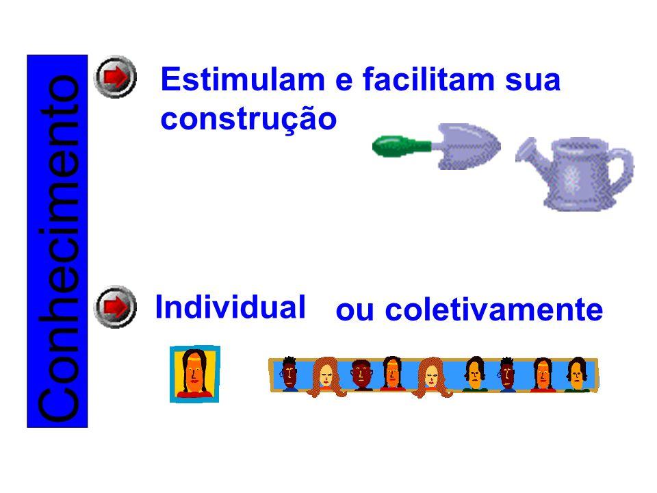Conhecimento Estimulam e facilitam sua construção Individual