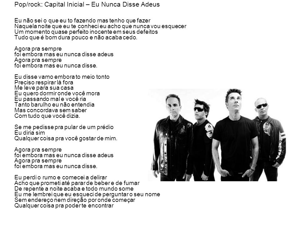 Pop/rock: Capital Inicial – Eu Nunca Disse Adeus