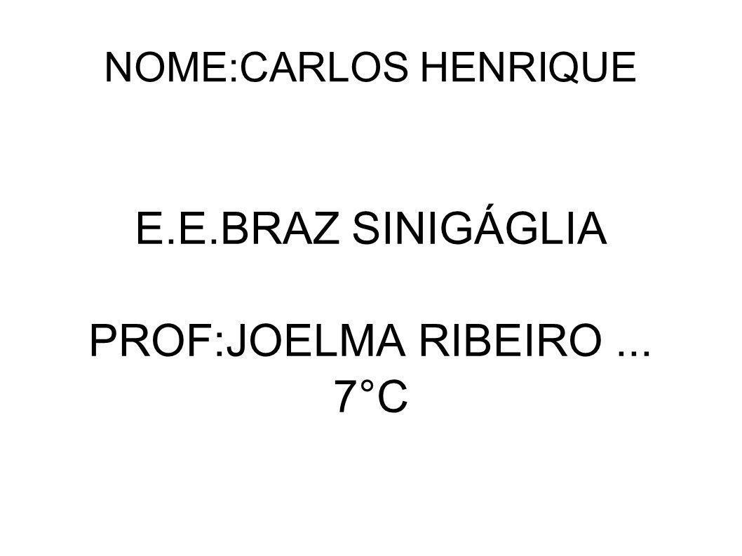 E.E.BRAZ SINIGÁGLIA PROF:JOELMA RIBEIRO ... 7°C