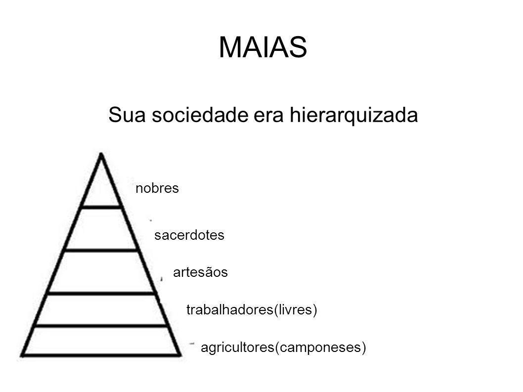 MAIAS Sua sociedade era hierarquizada