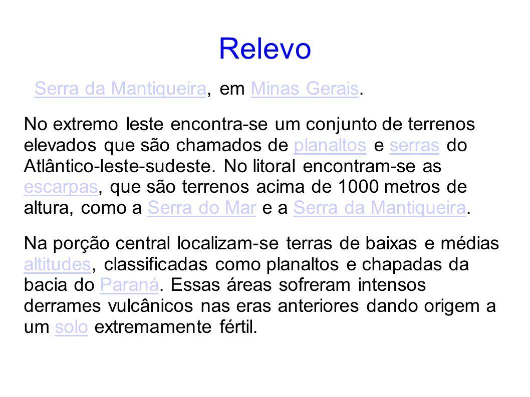 Relevo Serra da Mantiqueira, em Minas Gerais.