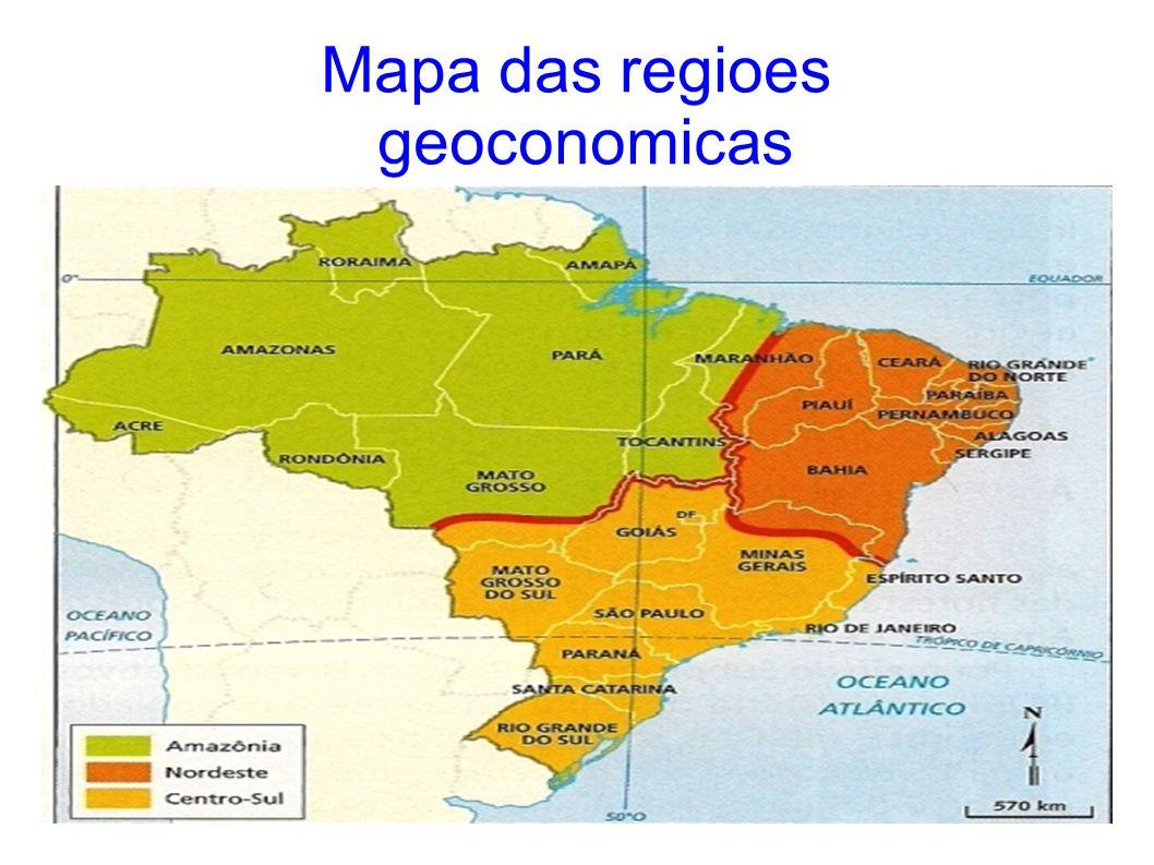 Mapa das regioes geoconomicas