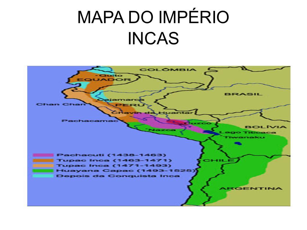 MAPA DO IMPÉRIO INCAS