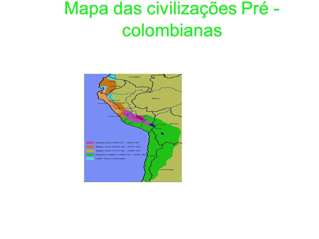 Mapa das civilizações Pré -colombianas
