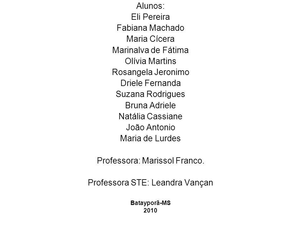 Professora: Marissol Franco. Professora STE: Leandra Vançan
