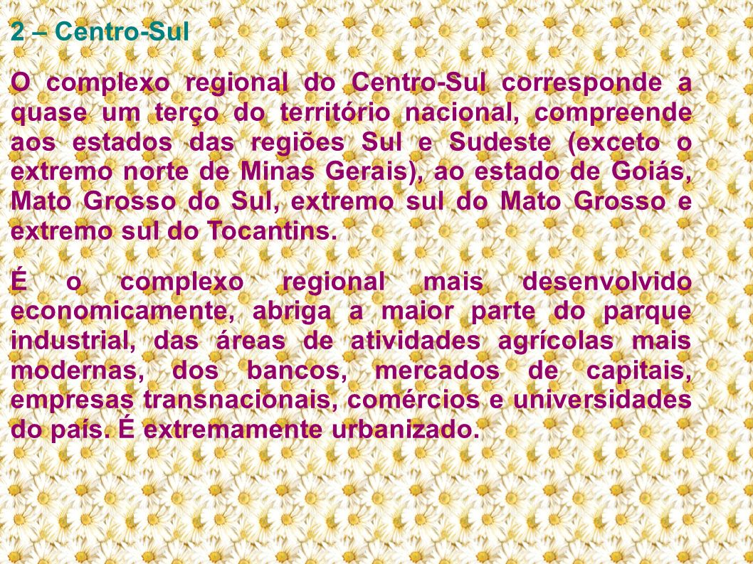 2 – Centro-Sul