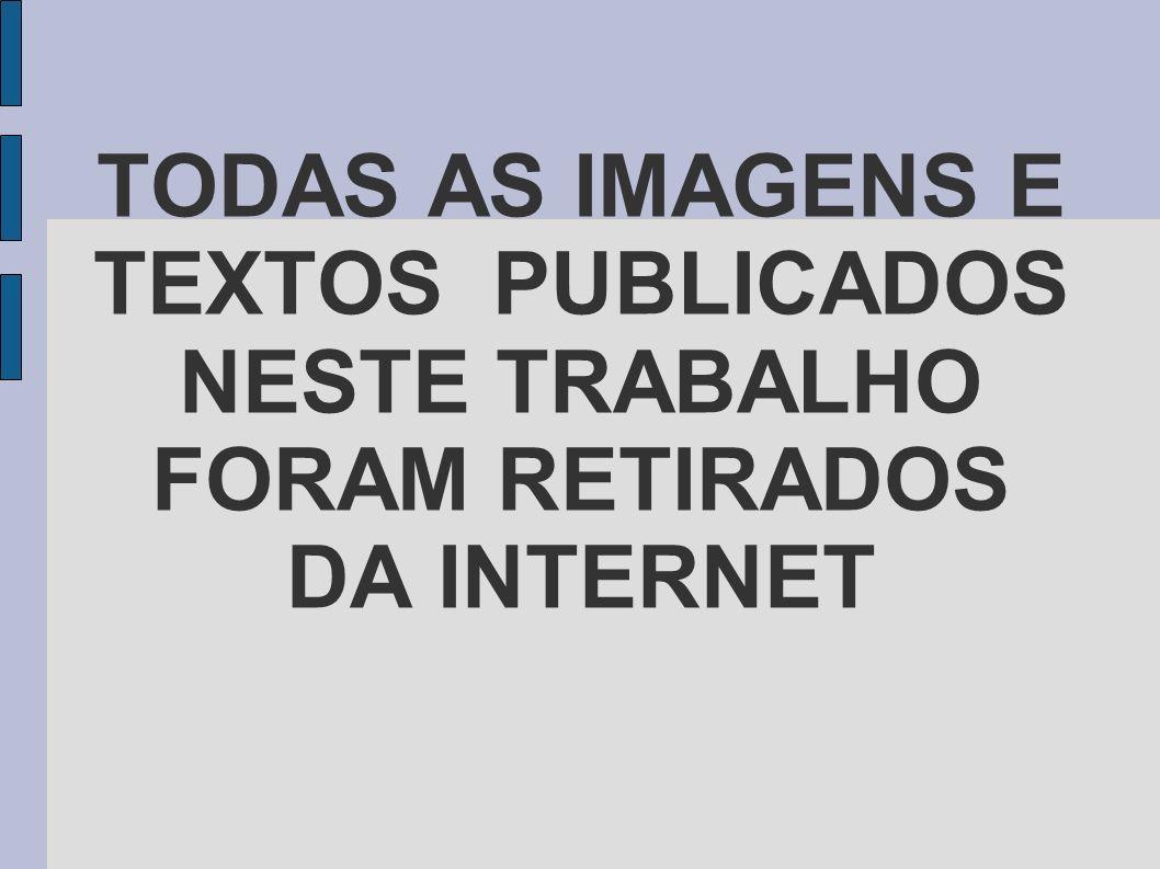 TODAS AS IMAGENS E TEXTOS PUBLICADOS NESTE TRABALHO FORAM RETIRADOS DA INTERNET