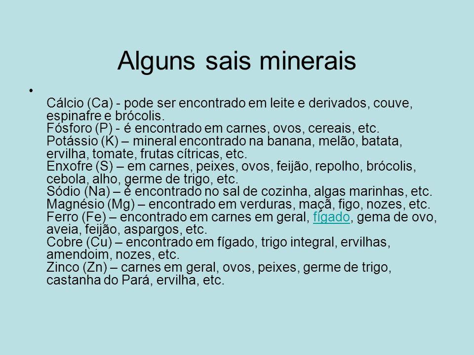 Alguns sais minerais