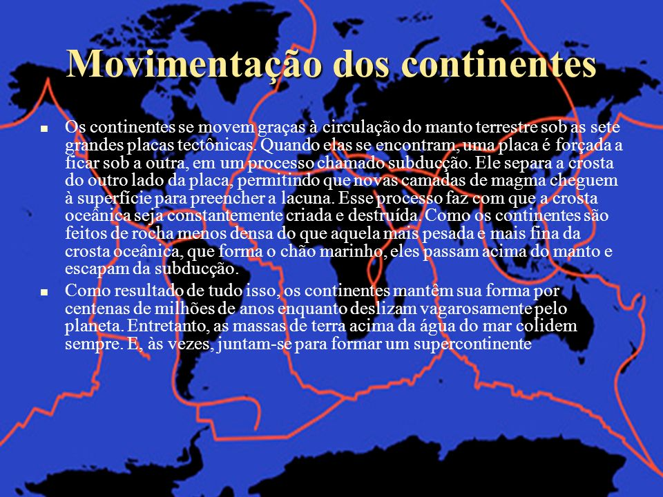 Movimentação dos continentes