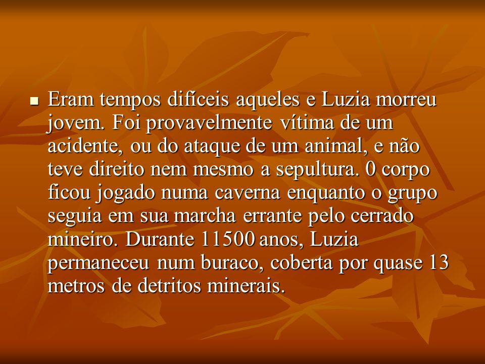 Eram tempos difíceis aqueles e Luzia morreu jovem