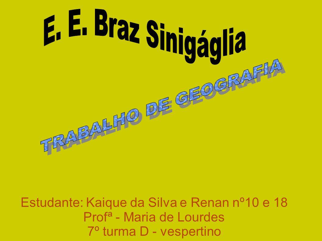 E. E. Braz Sinigáglia TRABALHO DE GEOGRAFIA