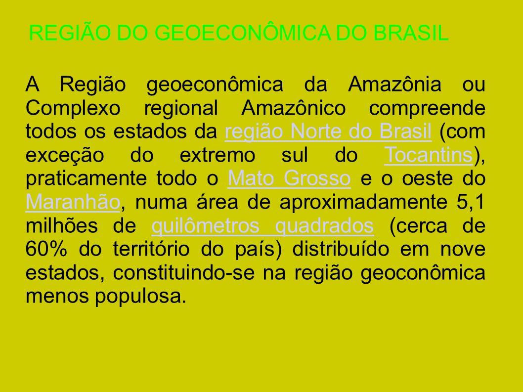 REGIÃO DO GEOECONÔMICA DO BRASIL