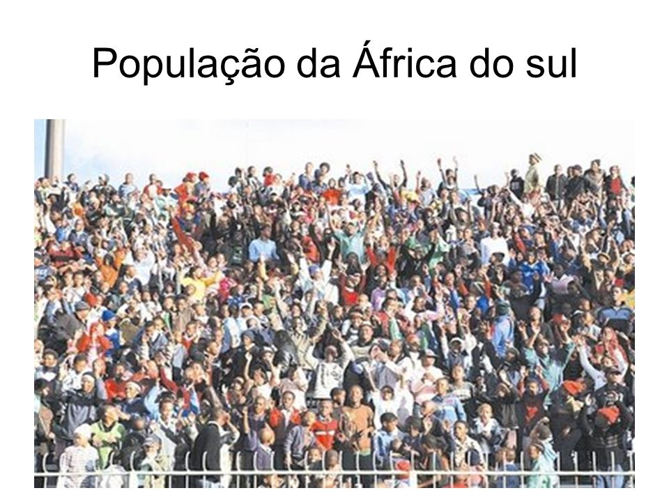 População da África do sul