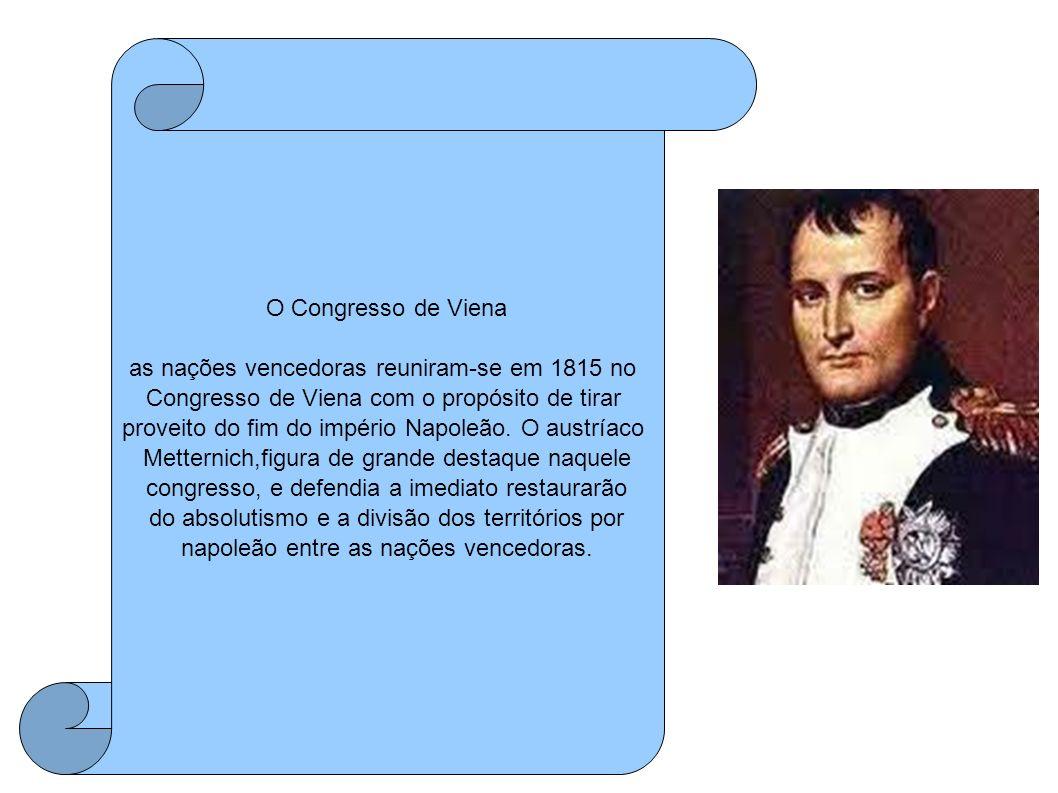as nações vencedoras reuniram-se em 1815 no
