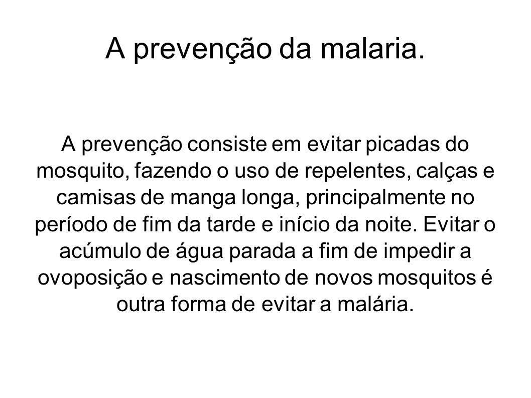 A prevenção da malaria.