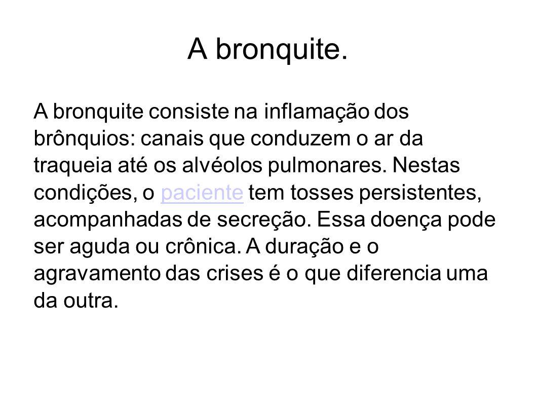 A bronquite.