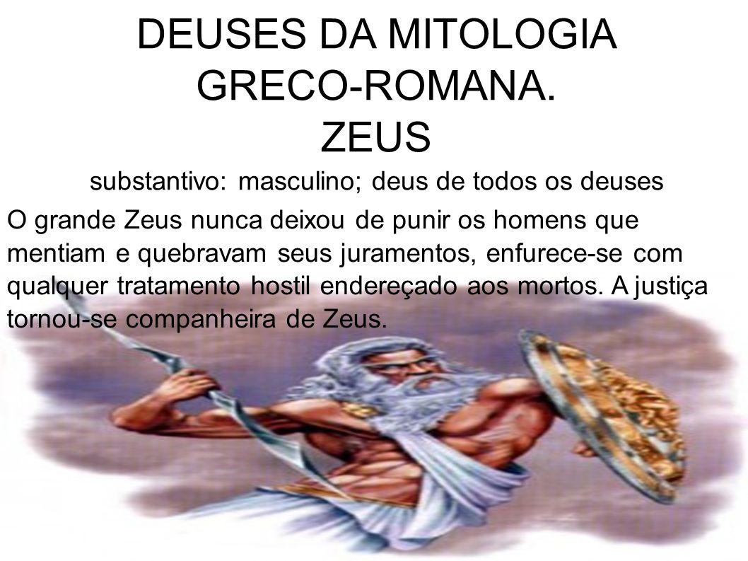 DEUSES DA MITOLOGIA GRECO-ROMANA