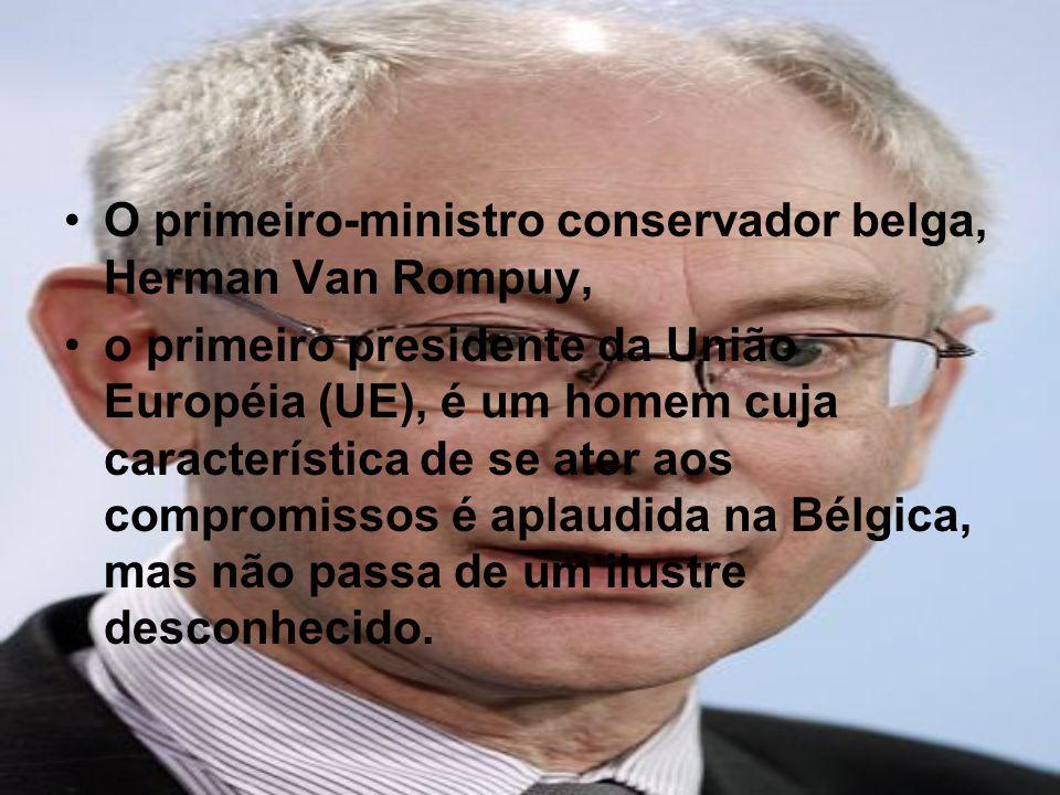 O primeiro-ministro conservador belga, Herman Van Rompuy,