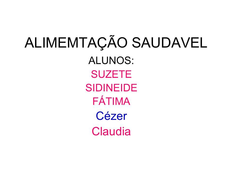 ALUNOS: SUZETE SIDINEIDE FÁTIMA Cézer Claudia