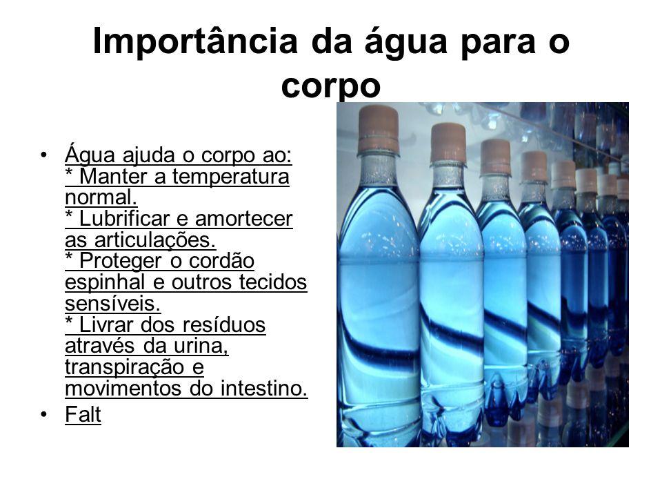 Importância da água para o corpo