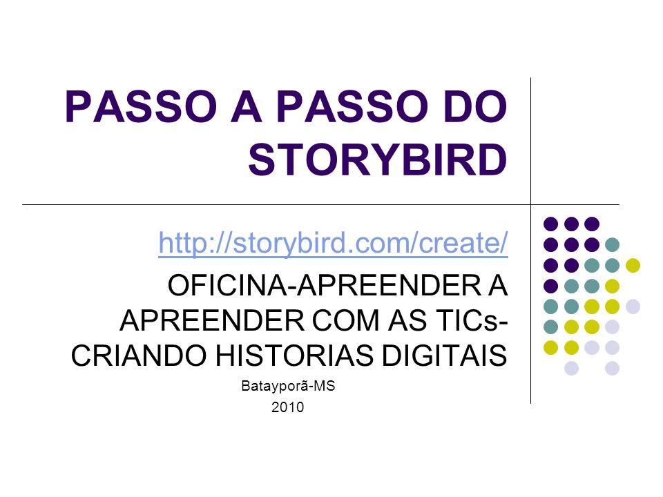 PASSO A PASSO DO STORYBIRD