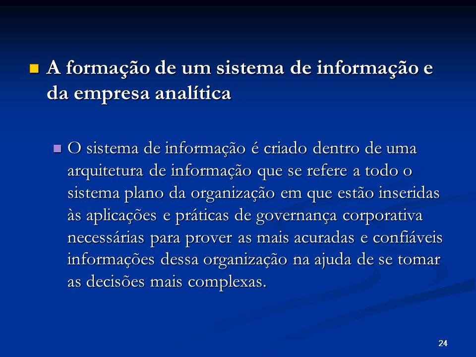 A formação de um sistema de informação e da empresa analítica