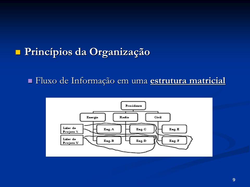 Princípios da Organização