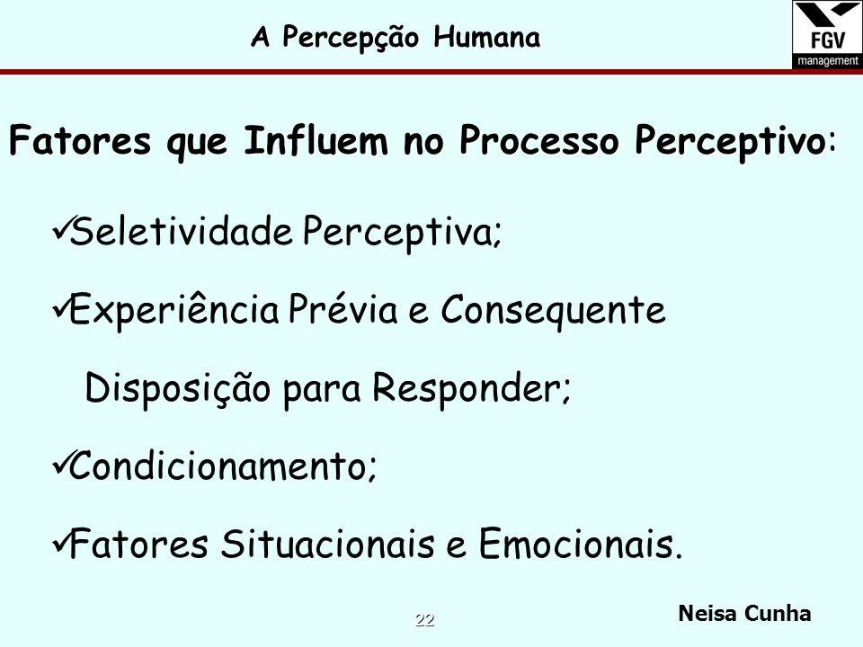 Fatores que Influem no Processo Perceptivo: