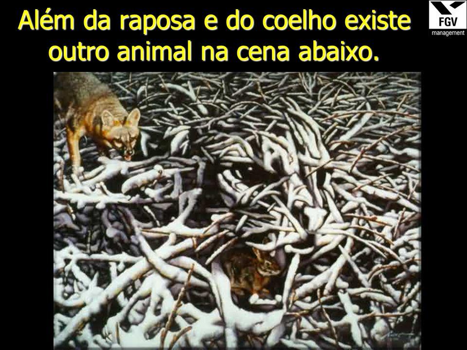 Além da raposa e do coelho existe outro animal na cena abaixo.