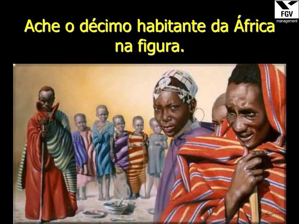 Ache o décimo habitante da África na figura.