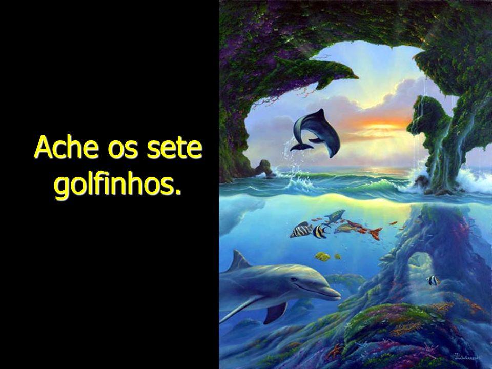 Ache os sete golfinhos.