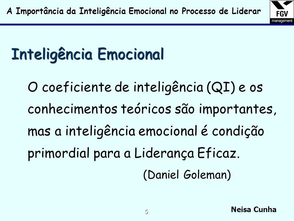 A Importância da Inteligência Emocional no Processo de Liderar