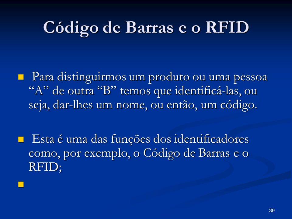 Código de Barras e o RFID