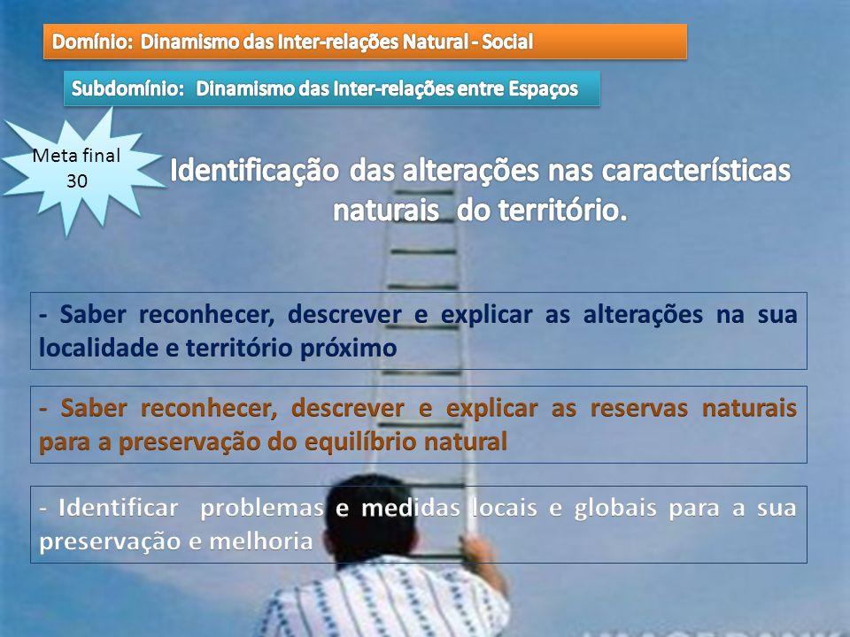 Domínio: Dinamismo das Inter-relações Natural - Social