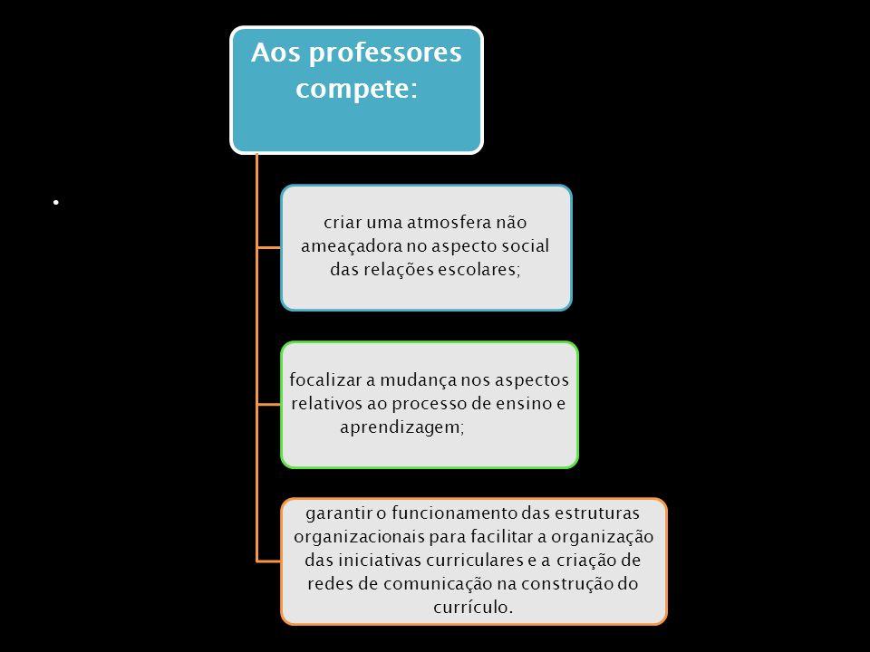 Aos professores compete: